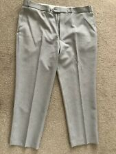 ESSENTIALS  MEN'S LIGHT WEIGHT-TROUSERS SIZE W 40 L29 GREY Small Check