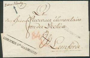 Portobrief mit Schreibschirft Hannover nach Lemförde 1812, RARE