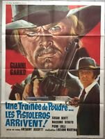 Plakat Une Trail Pulver Les Pistoleros Ankommen Gianni Garko 120x160cm
