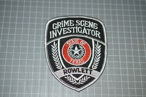 Rowlett Texas Crime Scene Investigator Patch (B17-N)