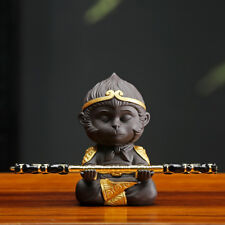 yixing zisha tea pet Heaven Monkey King handmade statue mini house warming gift