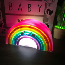 Novelty Smiling Rainbow Night Lights Lamp Children's Room Decoration Gifts
