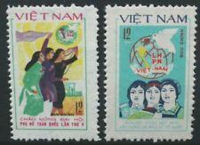 VIETNAM 1982 5th National Women's Congress. Set of 2 Mint Never Hinged SG475/476