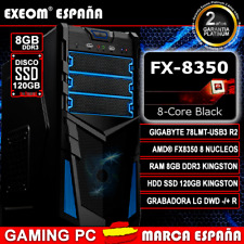 Ordenador Gaming Pc AMD FX8350 OCTA CORE 8GB RAM SSD 120GB Kingston de Sobremesa