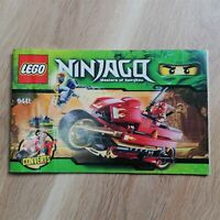 LEGO - INSTRUCTIONS BOOKLET ONLY Kai's Blade Cycle - Ninjago - 9441