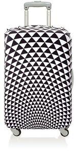 LOQI Pop Prism schwarz Kofferbezug Luggage Cover Koffer Schutz Hülle dehnbar