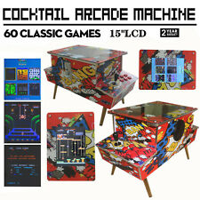 NewTrend Graffiti Style Cocktail Arcade Machine With 60 Classic Games Commercial