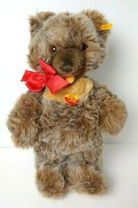"""Vtg 16"""" Steiff Soft Mohair ZOTTY Jointed Bear 018206 Germany 3 Tags & Ear Pin"""