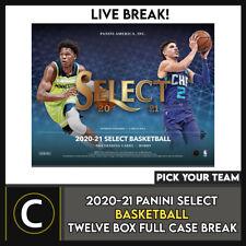 2020-21 PANINI SELECT baloncesto 12 Caja (completo Funda) romper #B652 - Elige Tu Equipo