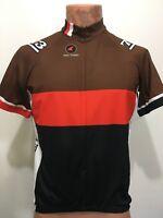 Pactimo Mens L Brown Orange Black Short-Sleeve Bike Jersey 3/4 Zip Cycle Smithy