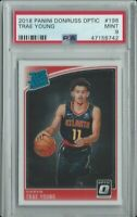 2018 PANINI DONRUSS OPTIC RATED ROOKIE TRAE YOUNG RC #198 HAWKS PSA 9 MINT🔥📈