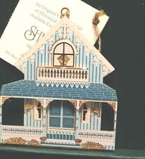 Shelia'S 1995 First Edition Blue Cottage Or001 Ornament