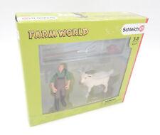Schleich 42375 - Bauer mit Ziege - FARM WORLD - NEU / OVP New