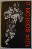 Vintage Football Media Press Guide Boston University 1974