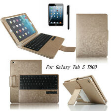 """Stand Bluetooth keyboard Leather Case cover For Samsung Galaxy Tab S 10.5"""" T800"""