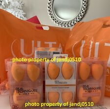 Authentic W Receipt Real Techniques Miracle Beauty Sponge Makeup Blender 4pc Set