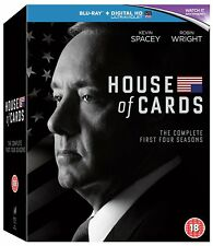 HOUSE OF CARDS 1-4 DIE KOMPLETE STAFFEL / SEASON 1 2 3 4 BLU-RAY DEUTSCH