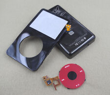 Black Faceplate Housing U2 Back Case Cover Red Clickwheel fr iPod 5th Video 60GB