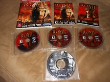Rome: Total War + Barbarian Invasion - Sega PC game Complete with Game Guide