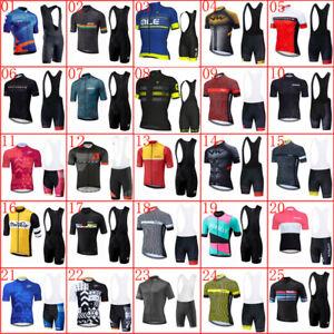 2020 Newest cycling jersey Men set summer short sleeve bike shirt bib shorts Kit