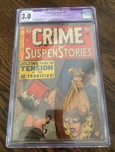 Vintage 1954 EC COMICS Crime Suspenstories 22 CGC Restored 3.0 Classic Cover