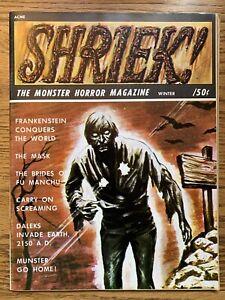 1966 SHRIEK #4 Vintage Monster Horror Magazine FN/VF