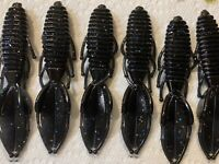 15ct lot 4.25in soft Plastic Beaver tail Creature Baits Bass Fishing jig trailer
