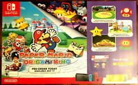 """Paper Mario The Origami King Promotional Poster - 36"""" x 26"""" Gamestop Promo"""