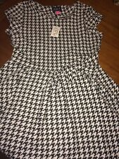 Childrens Place BLACK & WHITE HOUNDSTOOTH DRESS Sz 14 XL ROLL TIDE! NWT ALABAMA