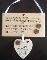 Personalised Holiday Pet Dog Cat Sitter Carer Kennels Thank You Poem Gift Plaque