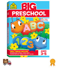 Preschool Workbook Big Activity Book Colors Shapes Numbers Alphabet 320 pages
