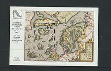 ICELAND 1984 NORDIA '84 MAP SAILING SHIP theme souv sheet VF MNH