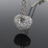 Gerard 2.00ct Perfect Cut Diamond Micro Pave Heart 18K White Gold Necklace