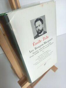 La Pléiade - Emile ZOLA - Les Rougon-Macquart - volume II - 1961
