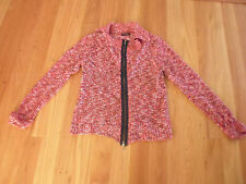 LADIES CUTE RED SPECKLED ACRYLIC LONG SLEEVE TOP BY CROSSROADS SIZE S AUS 10/12