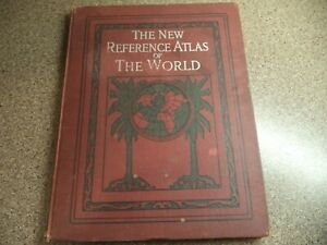 1915 New Reference Atlas Of The World Hammond & Co. New York