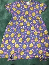 NEW Hanna Andersson Girls Dress Floral  Size 120 (6X-7)