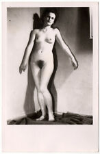 1920s Superb Abstract Full Nude Sexy Woman - Vintage Postcard Found Photo