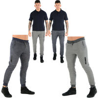 SOUL STAR MENS SLIM FIT JOGGERS FLEECE JOGGING TRACK SUIT BOTTOMS SWEAT PANTS