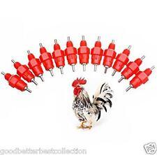 10 pcs/set Auto Water Nipples Drinker Poultry Chicken Duck Bird Feeder Screw-in