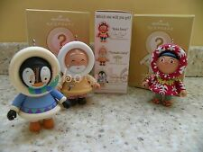 Hallmark 2011 Mystery Frosty Aloha Toymaker Penguin Christmas Ornament Set of 3
