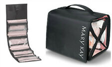 Mary Kay TRAVEL ROLL-UP Hanging COSMETIC BAG BLACK and PINK NIP