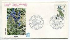 FRANCE FDC 1° jour , 1983, timbre 2269, FLEURS, ACONIT, FLORE