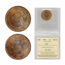 1 Cent Canada 1901 Graded by ICCS