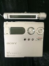Sony Mz-N910 NetMd Walkman MiniDisc Recorder/Player Silver Japan Used
