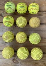 "Lot Of 12 Mixed Practice 12 "" Softballs."