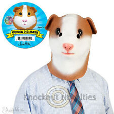 Guinea Pig Mask Latex Realistic Animal Head Costume Halloween Disguise Pet