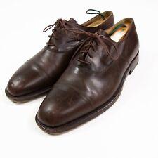 Ermenegildo Zegna Mens sz 10 US Brown Oxford Cap Toe Leather Dress Shoes