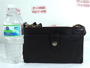 Michael Kors Charm MK Signature Leather Tab Double Zip Phone Crossbody