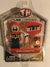 ! Tube Heroes Exploding TNT Pack with Figure & Tools Set